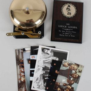 Ringside Bell & Boxing HOF Plaque Awarded to Chuck Giampa (Incl. Provenance Photos)