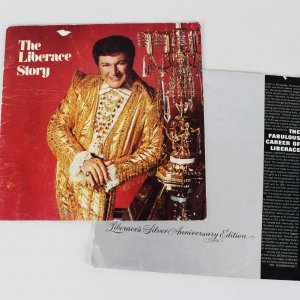 Las Vegas Entertainer - Liberace Signed Concert Program & Unsigned Program - JSA