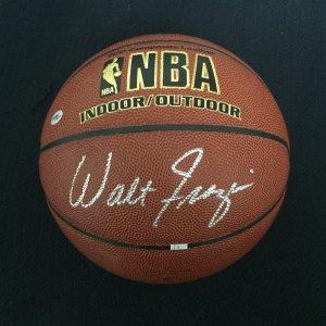 Walt Frazier Autographed Basketball w/COA