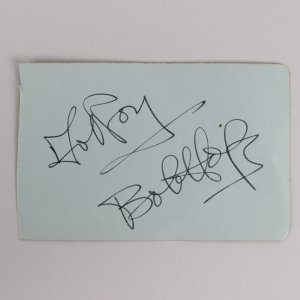Bob Hope Signed 3x5 Vintage Album Page - COA JSA