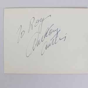 Actor - Anthony Curtis Signed 5x6 Vintage Album Page - COA JSA
