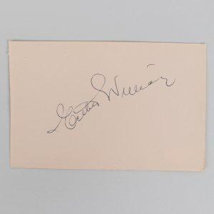 Actress Esther Williams Signed 4x6 Cut (JSA)