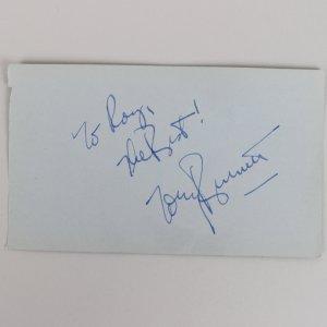 Tony Bennett & Rhonda Fleming Signed 3x5 Vintage Album Page - COA JSA