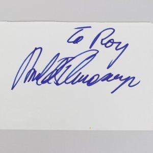 Terminator Arnold Schwarzenegger Signed 4x5 Cut (JSA)