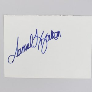 Actor Samuel Jackson Signed 4x6 Cut (JSA)