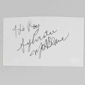 Rambo - Sylvester Stallone Signed 4x6 Cut (JSA)
