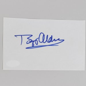 Buzz Aldrin Signed 3x5 Cut (JSA)