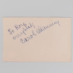 Carrol Channing & Betsy Blair Signed 4x6 Cut (JSA)
