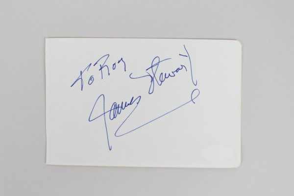 James Stewart Signed 4x6 Cut (JSA)