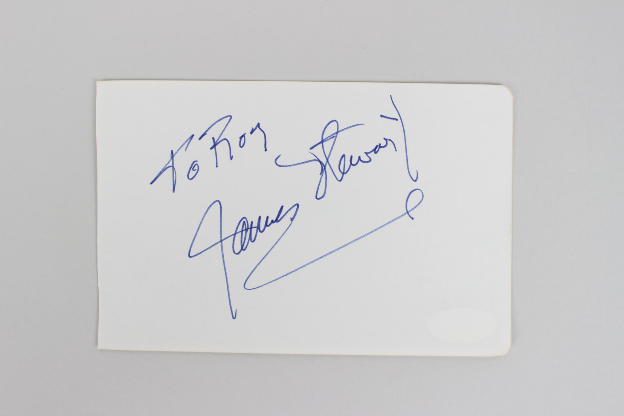 James Stewart Signed 4×6 Cut (JSA)49284_01