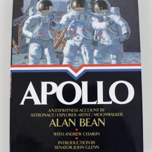 Apollo Hardcover Book Signed by Astronaut,  Explorer & Moonwalker Alan Bean