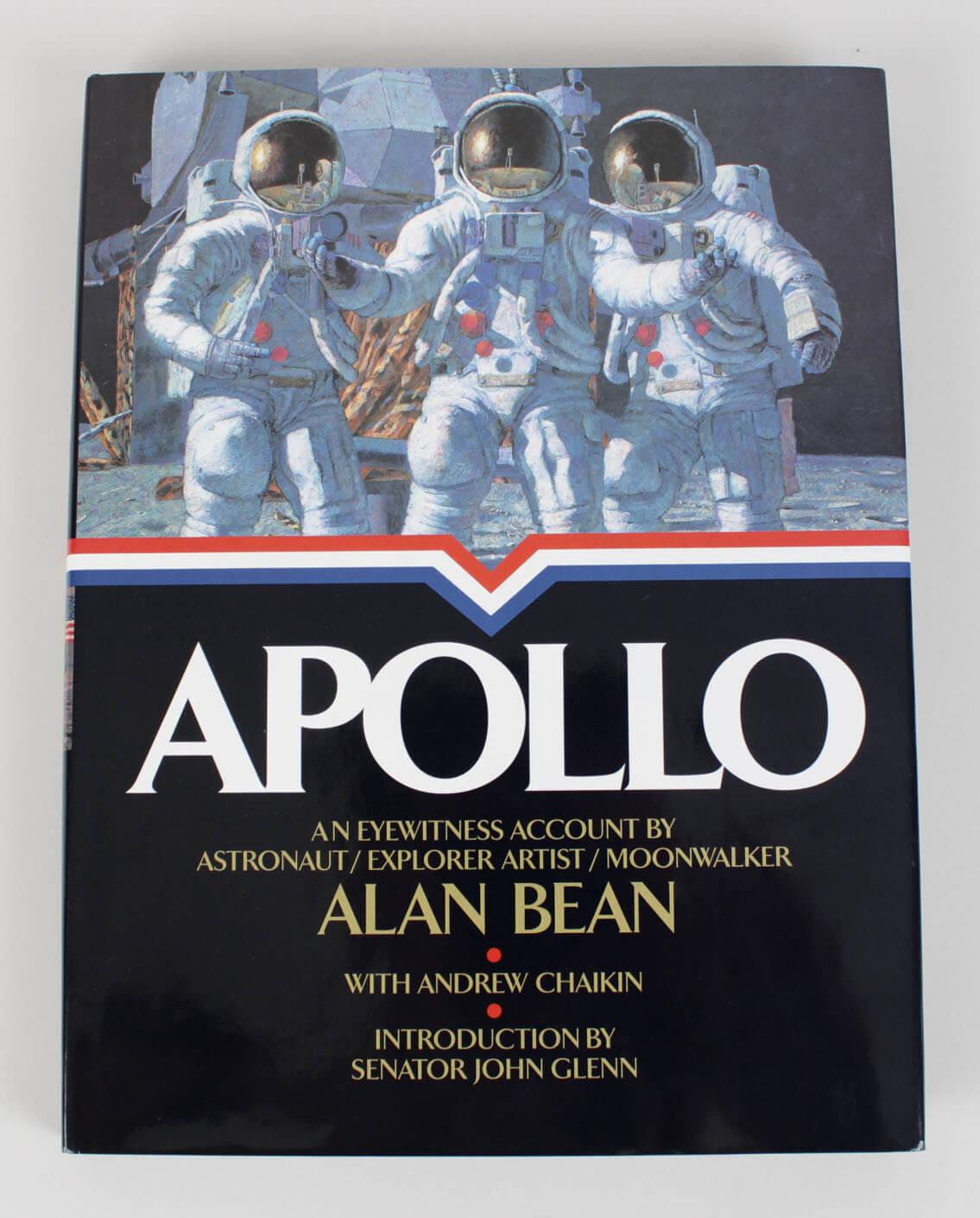 Apollo Hardcover Book Signed by Astronaut,  Explorer & Moonwalker Alan Bean