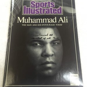 "Muhammad Ali signed and inscribed ""Greatest of all Times"" April 25, 1988 Sports Illustrated Magazine"