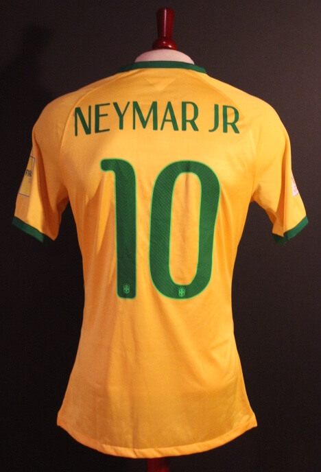 f5da54d2e A Neymar Game-Used  10 Brazil Home Shirt. 2018 FIFA World Cup Qualifiers.
