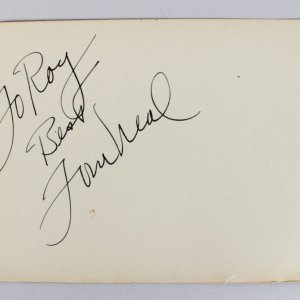 Tom Neal Boxer- Actor Signed Vintage 3x5 Album Page