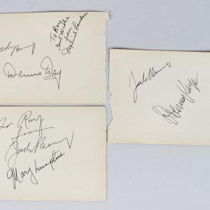 Jack Benny Program Signed Cuts - Jack Benny, Danny Kaye, Dennis Day & Others