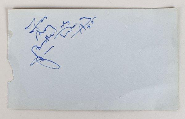 Artist Salvador Dali Signed Parchment Cut