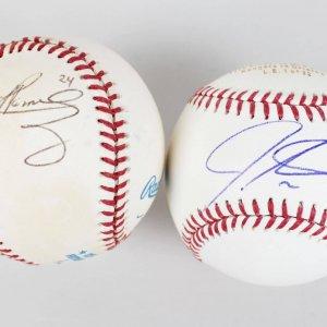 Lot of Signed Baseballs - Manny Ramirez, Josh Hamilton & Jillian Tavares - JSA