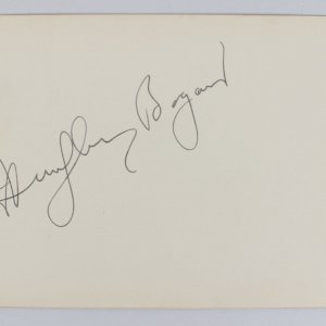Humphrey Bogart & Bob Hope Signed 4x6 Cut