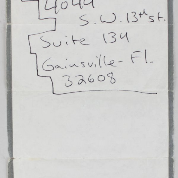 Stand by Me Actor - River Phoenix Signed Handwritten Four Seasons Notepad Paper w/His Address (Moseley Collection)