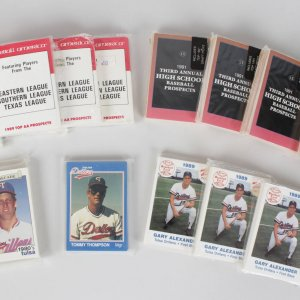 Minor League / High School Baseball Card Set Collection Lot (15) Feat. Manny Ramirez, Juan Gonzalez, Sammy Sosa etc.
