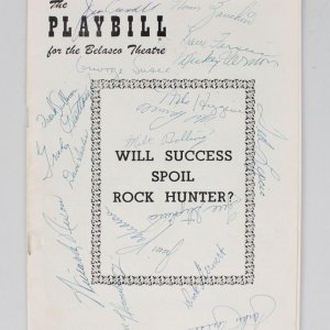 Boston Red Sox Multi-Signed Playbill Pinkie Higgins, Frank Sullivan, Jackie Jensen & 15 Others - JSA