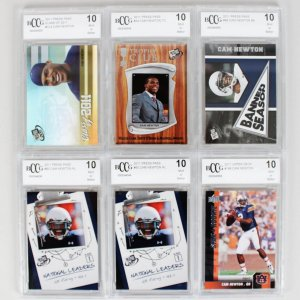 2011 Carolina Panthers - Cam Newton Rookie Card Lot (6) All Graded 10