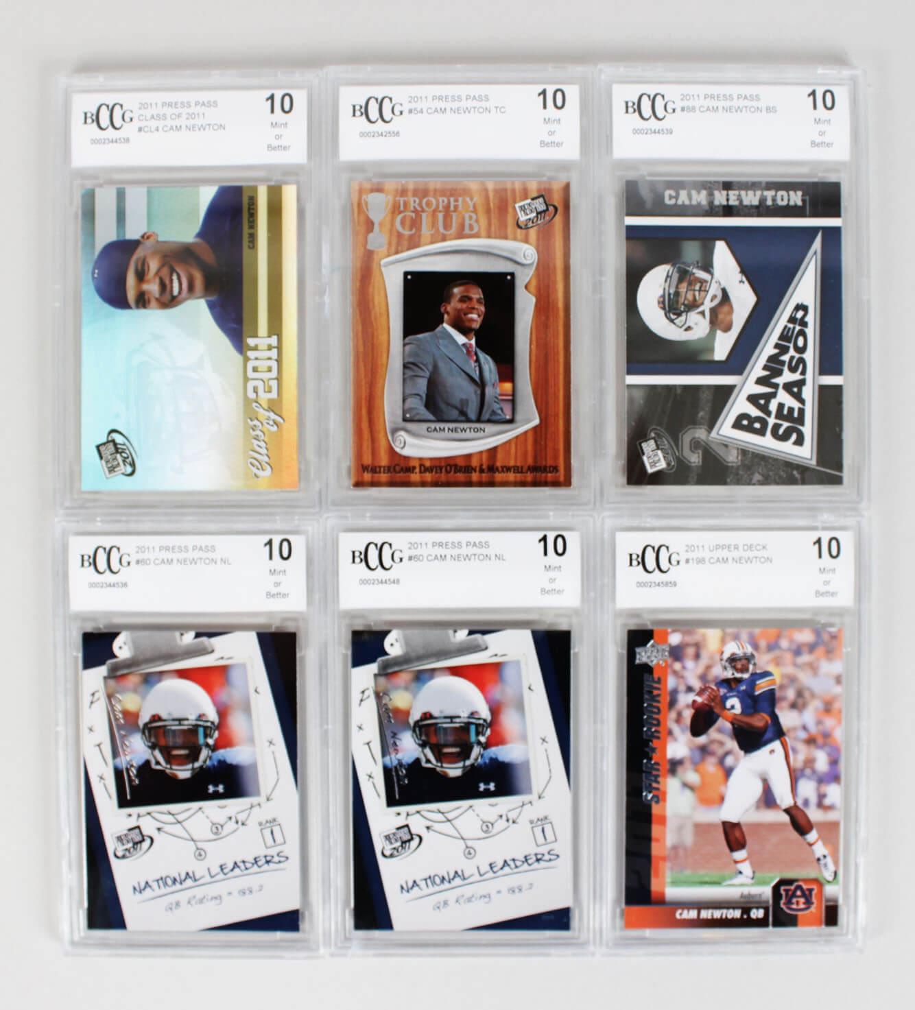 2011 Carolina Panthers – Cam Newton Rookie Card Lot (6) All Graded 1047628_01