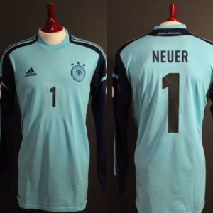 A Manuel Neuer Game-Used #1 Germany GK Shirt.  2014 FIFA World Cup Qualifiers.