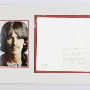 The Beatles - The White Album Signed by George Harrison (Album Cover) Display (PSA/DNA Full LOA)