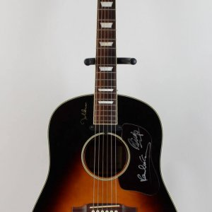 The Beatles - Paul McCartney & Ringo Starr Signed Limited Edition John Lennon Epiphone Guitar COA Epperson