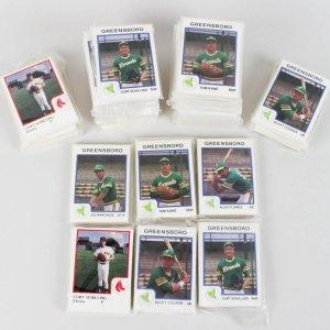 1986 Elmira Red Sox (4) & 1987 Greensboro Hornets (26) Set Lot of (30 Total) feat. Curt Schilling