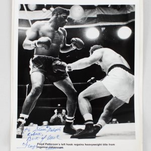 Floyd Patterson Signed & Inscribed 8x10 Photo