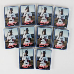 1991 Bakersfield Dodgers Cal League Cards Set Lot of (10) feat. Pedro Martinez & Mike Piazza