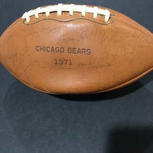 1971 Chicago Bears Team Signed Autographed Football 50+Signatures JSA Full Letter