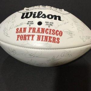 1994 San Francisco 49ers Super Bowl Champions Team Signed Football (40+ Auto's)