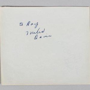 "Miles DAVIS (Jazz): Signed  5 1/2"" x 6 1/2"" Album Page - JSA Full LOA"