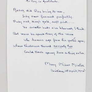 Actress - Mary Miles Minter Signed Handwritten Thank You Poem- JSA Full LOA