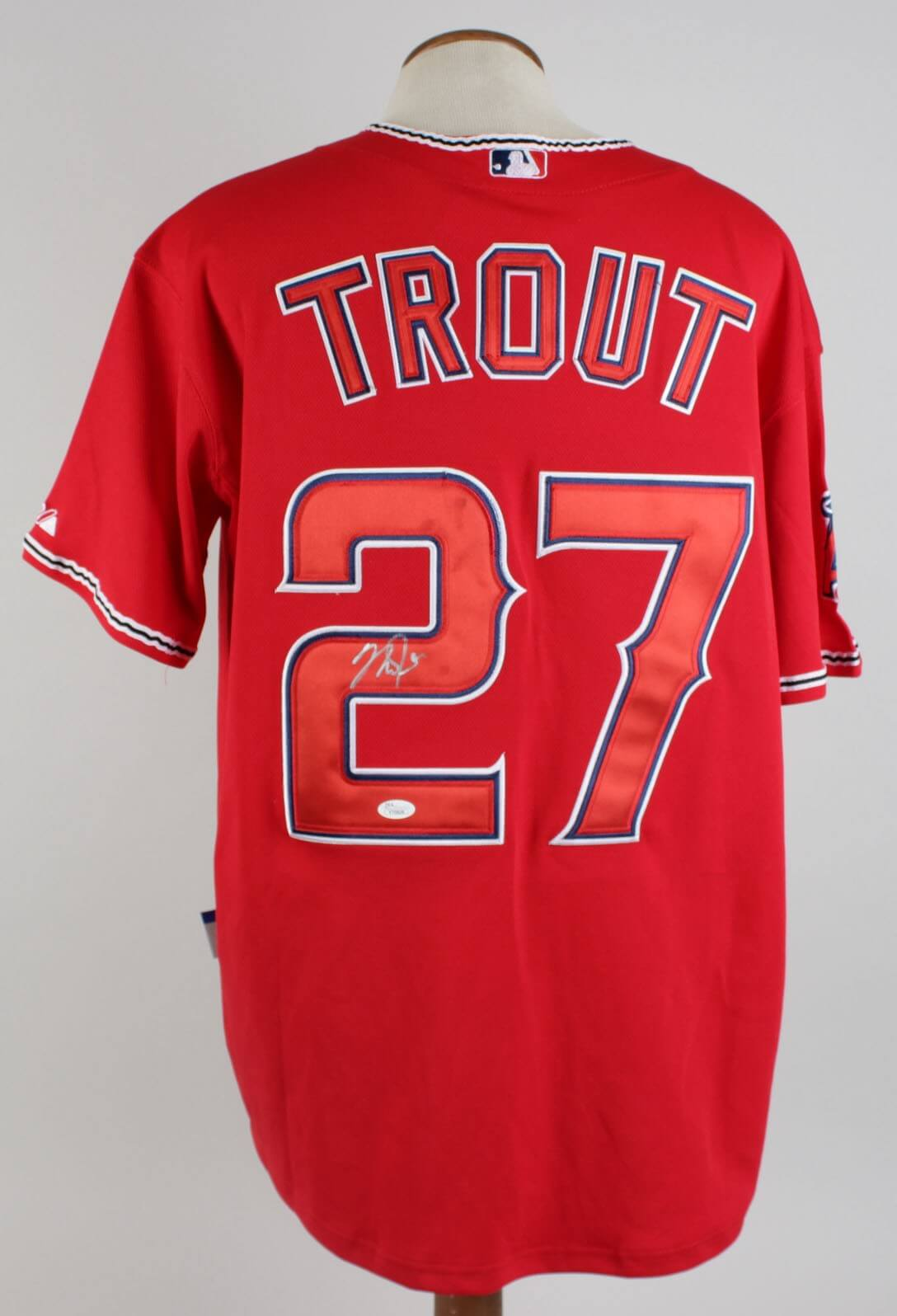 buy popular f3ebb a7c22 mike trout autographed jersey