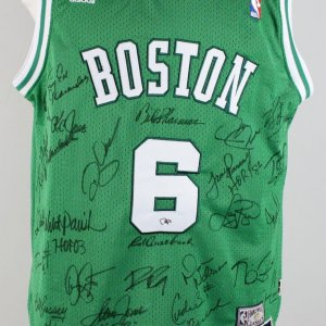 Boston Celtics HOFers Signed Russell Jersey - 25 Signatures