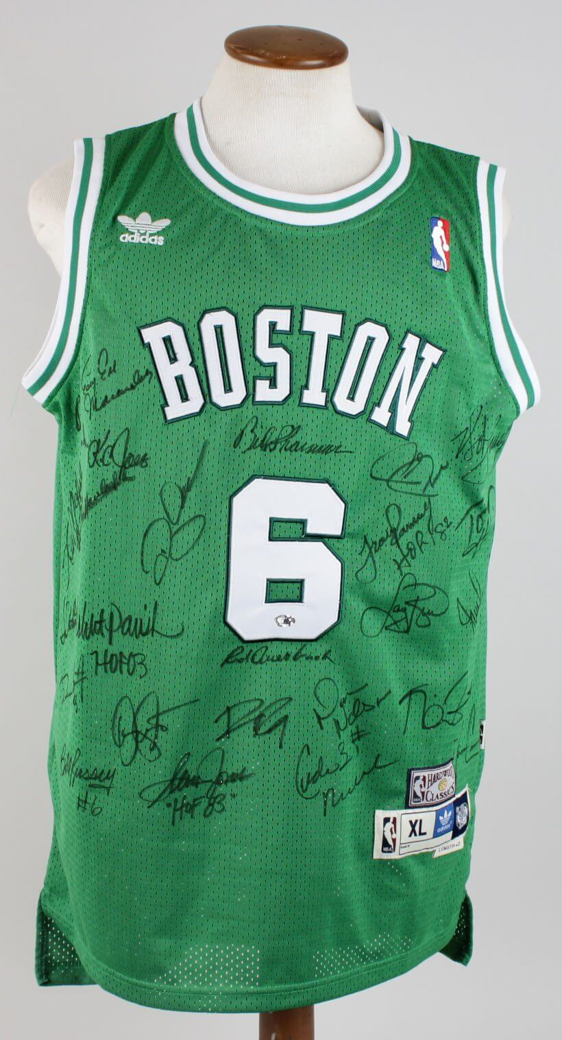 Boston Celtics HOFers Signed Russell Jersey – 25 Signatures (COA ... d0ed705f2