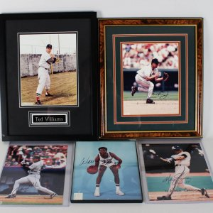 Collection of Baseball Greats 8x10's Ripken, Gruber, Walker, Williams (unsigned)- Proceeds Donated to Save the Mustangs