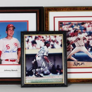 Collection of Baseball Greats 8x10's Bench, Maddux Rodriguez- Proceeds Donated to Save the Mustangs