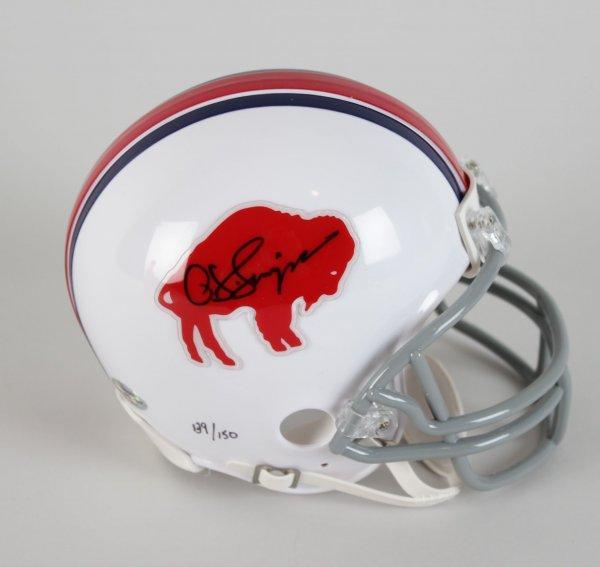 Buffalo Bills OJ Simpson Signed Mini Helmet (COA)