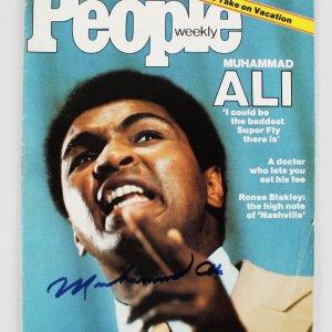 Muhammad Ali Signed People Magazine-Huge Vintage Auto
