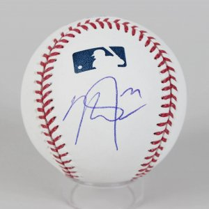 Mike Trout Signed Baseball Angels - COA JSA