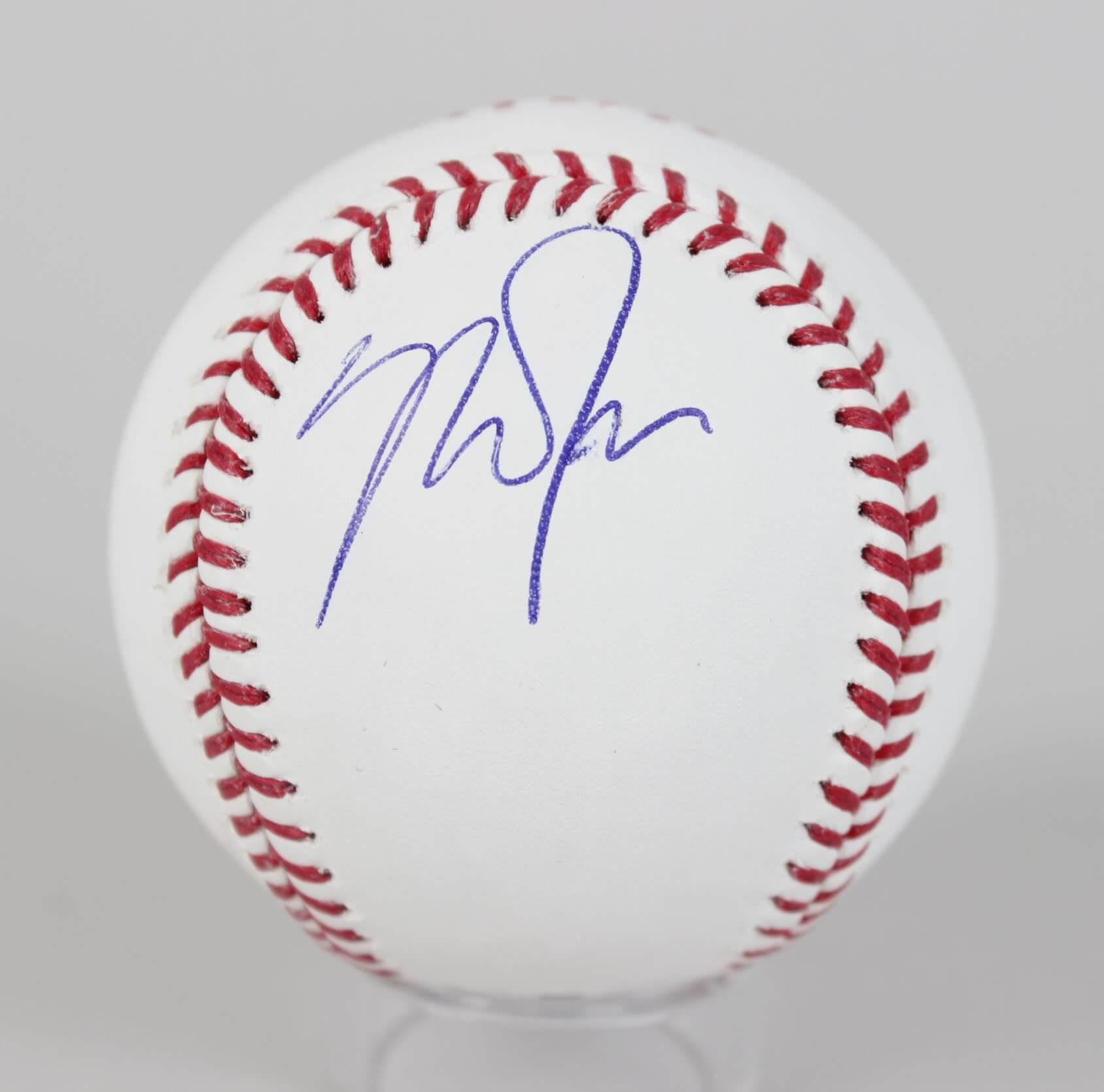 Mike Trout Signed Baseball Angels - COA JSA
