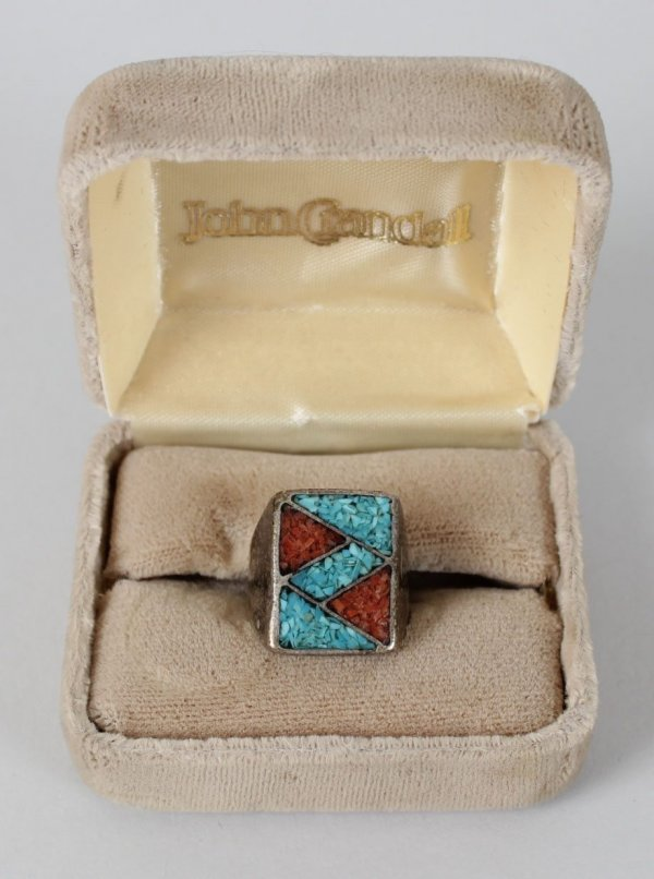 Motley Crue Vince Neil's First Turquoise Worn Personal Ring Pre-Fame Days