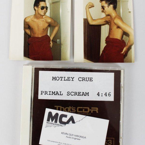 "Motley Crue - Vince Neil Personal ""Primal Scream"" Raw Cut Edit on CD (Provenance LOA)"