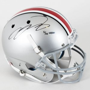 Ohio State Buckeyes - LeBron James Signed Full Size Helmet LE 1/23 (UDA COA)